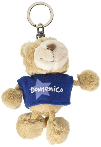 NICI n15863-Llavero Oso con Camiseta Domenico, Azul