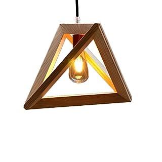 Akldigital Simple Geometric Artistic Creative Chandelier Lamp Restaurant Bar Made of Solid Wood
