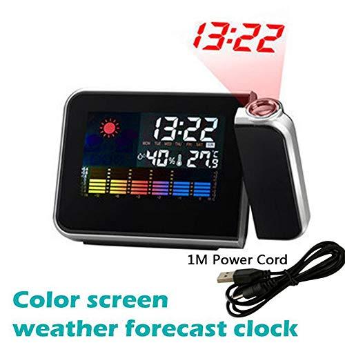 SKYyao Led Reloj Despertador ProyeccióN Digital Temperatura ...
