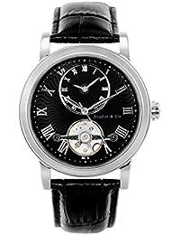 Boudier & Cie Herren-Armbanduhr Automatik Analog Leder Schwarz - B15H2