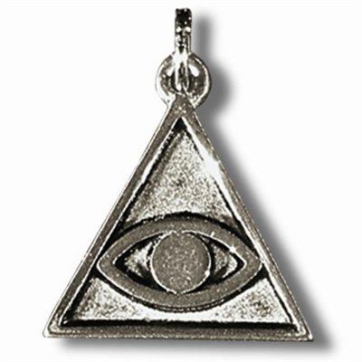 Zinn-Amulett gegen den bösen Blick mit Achat-Schutzstein und Erklärungskarte