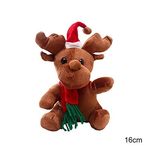 unes Elch Hirsch Kuscheltier Stofftier Weihnachtsschmuck ca.16CM,20 CM,Weihnachts, Neujahrs Geschenke fur Kinder ()