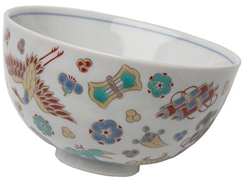 kutani-overglaze-enamels-rice-bowl-dzukushi-takarazukushi-sk-232-japan-import