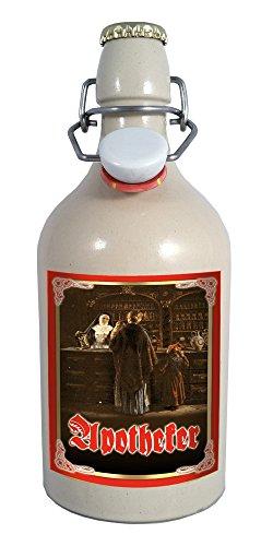 Apotheker 0,5 Liter Tonflasche mit Bügelverschluss