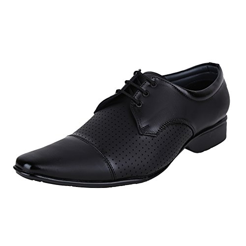AXONZA Men's black Faux leather formal shoes (8)