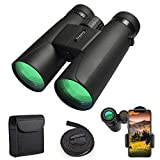 Binoculars for Adults, 12X42 Low Night Vision Compact HD Professional Binoculars for Hunting