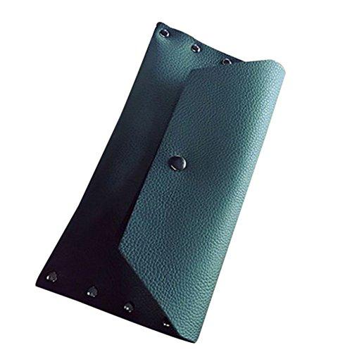 Daliuing Frauen Mädchen Vintage Lange PU Leder Bifold Geldbörse Stift Magnetic Schnalle Handtaschen Wallet Halter Fall als Geschenke (Card Slot Wallet 19)