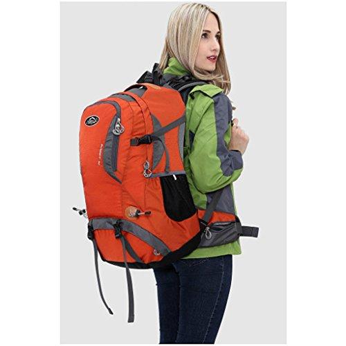 Outdoor-Klettern Tasche Rucksack-Reitsport-Multifunktions-Schultertasche Camping Wanderrucksack mit Halterung Orange