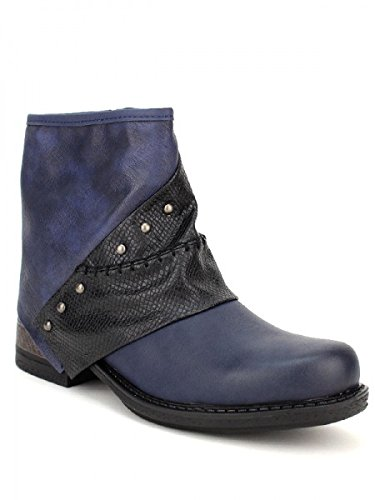 Cendriyon, Bottine Blue WAIDES Chaussures Femme Bleu