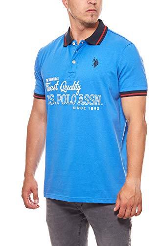 U.S. POLO ASSN. Polohemd Poloshirt Limited Edition Herren Jersey Royal, Größenauswahl:XXL