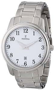 Festina Herren-Armbanduhr XL Klassik Analog Edelstahl F16378/1