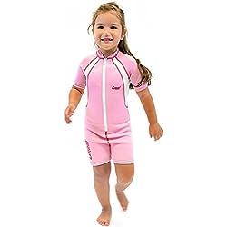 Cressi Unisex Wetsuit Neoprene, Traje de Buceo 1.5 mm para Niños, Rosa (Pink/White), 8-10 Años (Talla fabricante: XXL)