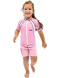 Cressi Unisex Wetsuit Neoprene, Traje de Buceo 1.5 mm para Niños, Rosa (Pink/White), 1-2 Años (Talla fabricante: S)