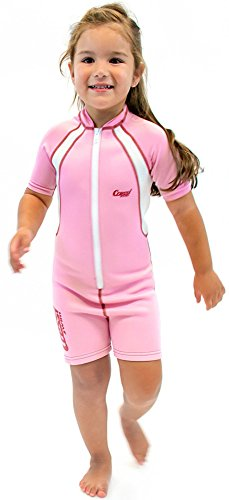 Cressi Shorty Kid Shorty Neoprenanzug für Kinder Ultra Stretch Neopren 1,5 / 2 mm, Rosa / Weiß, 2 Jahre