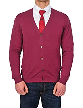 Zanone cárdigan Hombre Violeta normal algodón casual 56
