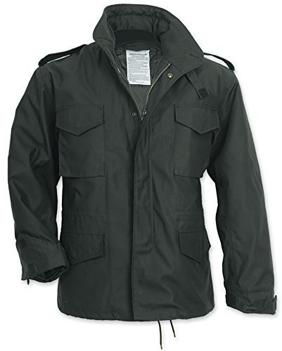mens-black-m65-us-military-field-army-combat-jacket-vintage-parka-coat-liner-size-xl