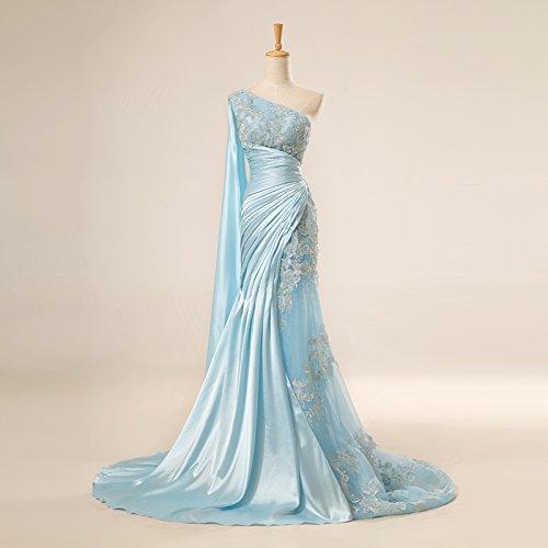 Lemandy Robe de soirée longue Bleu