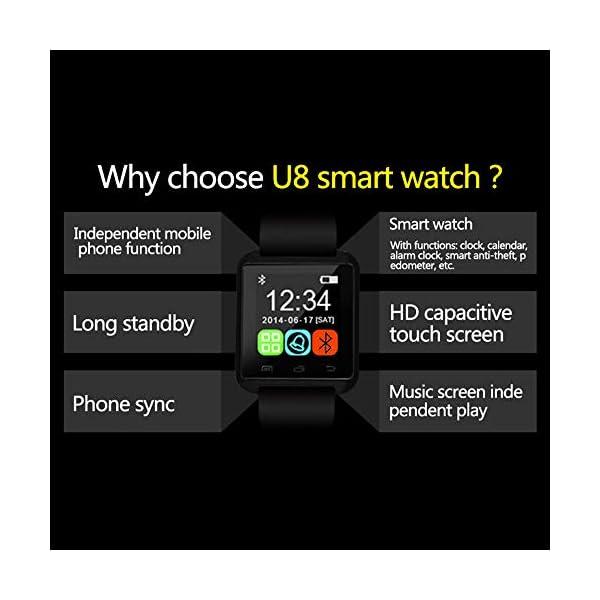 Letopro Smartwatch Bluetooth Reloj Inteligente Android iOS, Smart Watch Teléfono Inteligente De Pulsera con Pódometro/Contador de Calorias, Fitness Tracker para ios android phone(Negro) 7