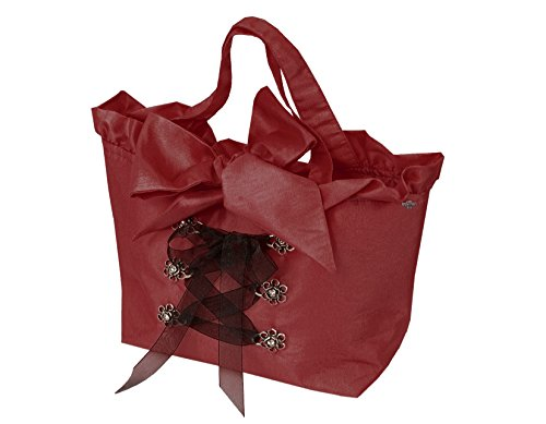 Moschen-Bayern Trachtentasche/Dirndltasche/Damentasche Handtasche/Umhängetasche Taft - Rot