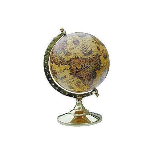Kleiner Historischer Barock Globus auf anlaufgeschütztem Messinstand