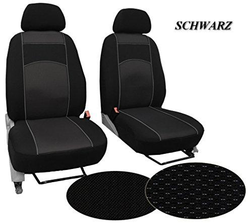 Preisvergleich Produktbild Maßgefertigter Sitzbezug, Modellspezifischer Sitzbezug Fahrersitz + Beifahrersitz Für VW AMAROK. Super Qualität, STOFFART VIP. In diesem Angebot SCHWARZ (Muster im Foto).