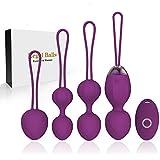 2 in 1 Kegel Exercises Weights & Massage Ball Ben Wa Balls Kegel Balls - Doctor Consigliato per principianti Controllo della vescica e esercizi per il pavimento pelvico per & Tightening (viola)