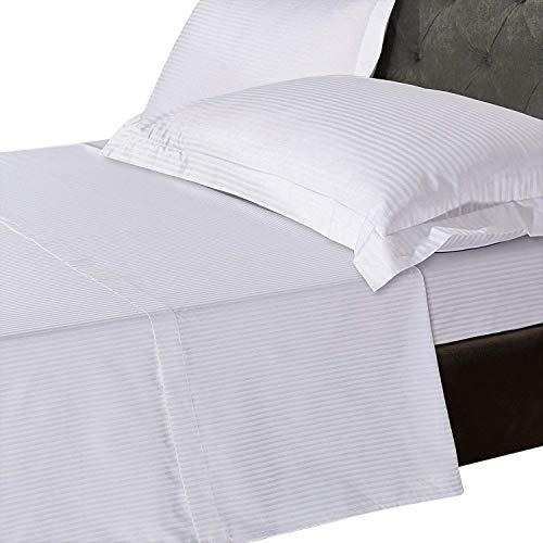 Leinen Zone 800Fadenzahl 100% reinen, natürlichen Ägyptischer Baumwolle T800Tief Spannbetttuch, 5Star Hotel Qualität, weiß, 2 Standard Pillow Cases -