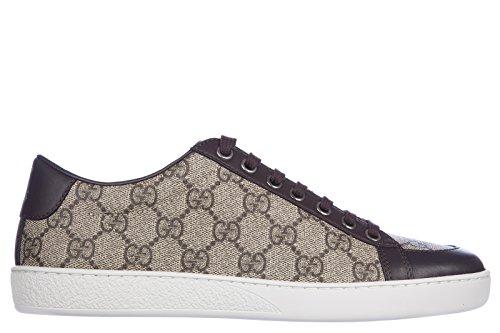 Gucci scarpe sneakers donna nuove originale tessuto gg supreme mirò soft marrone EU 37.5 323793 KHN80 9760