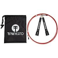 Cuerda para Salto de Velocidad con cuerda de repuesto extra – GARANTÍA DE POR VIDA - Ajustable Para Cualquier Estatura - Ideal para CrossFit y Boxeo