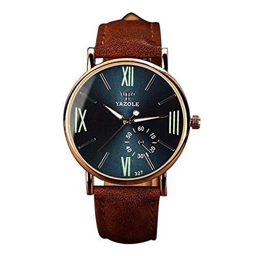 Suitray Herren Uhren Lederarmband, Luxus Männer Armbanduhr Geschäft Analoge Quarzuhr Beiläufig Uhr Geschenk, Runde Zifferblattgehäuse Lederband Uhren
