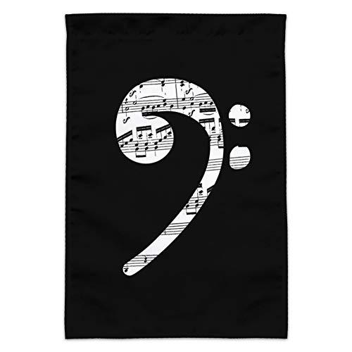 GRAPHICS & MORE Notenblatt mit Notenschlüssel Musik Garten Hofflagge (Stange Nicht im Lieferumfang enthalten)