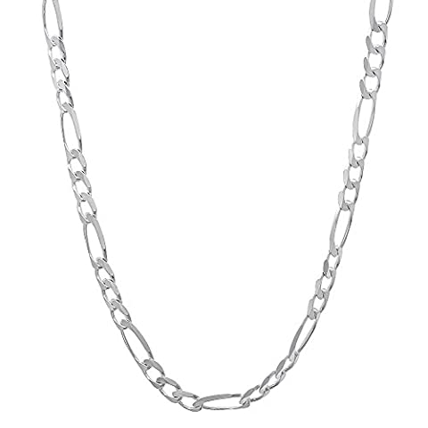 2.7mm Solid 925 Sterling Silver Figaro Link Italian Crafted Chain,