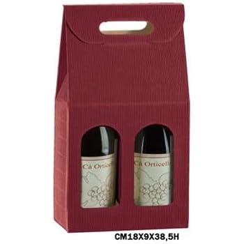 Cajas Vino de 2 botellas verticales de cartón onda bordò (conf. de 20 piezas