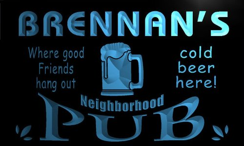 enseigne-lumineuse-pg1744-b-brennans-neighborhood-home-bar-pub-beer-neon-light-sign