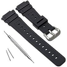 Naturale poli uretano Watch Band strap di ricambio per Casio uomo G-Shock DW-5900 DW-6100 DW-6695 DW-6900 G-6900 GW-M5610 DW-5600 GW-6900 (J2)