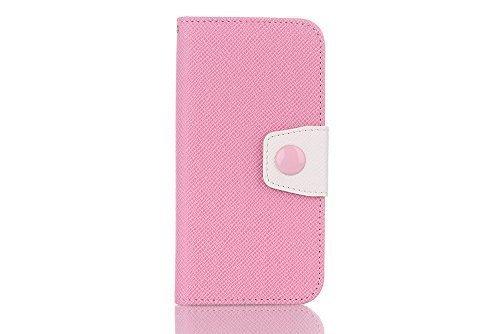iPhone 7 Cover, elecfan ® Leichtgewicht Book Stil Flip PU Leder Hülle Tasche Wasserdicht Case Smart Cover mit Ständer / Kartenfächer Anti Kratzer Schutzhülle für iPhone 7 Rosa