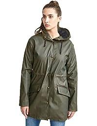 Brave Soul Womens Glover Rubberised Longer Length Rain Mac Coat
