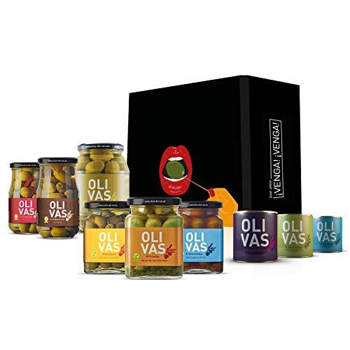 OLIVAS Oliven-Set klein # Eine kulinarische Reise durch die Olivenwelt Spaniens # Mit Geschenkbox