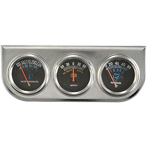 Yongse Auto Meter Auto Trio amperometro Acqua Temp Manometro dell'olio Sliver meccanica