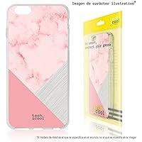 FunnyTech® Funda Silicona para Xiaomi Mi A1 [Gel Silicona Flexible Alta Calidad] [Ultra Slim 1,5mm-Gran Resistencia] [Diseño Exclusivo, Impresión Alta Definición] [Textura marmol rosa combinado]