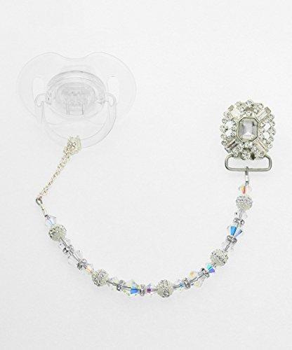 Cristallo Swarovski sogno argento Ciuccio Clip (cblc)
