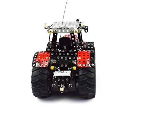 RC Auto kaufen Traktor Bild 2: Tronico 10084 - Metallbaukasten Traktor Massey Ferguson MF-8690 mit Fernsteuerung, Profi Serie, Maßstab 1:16, 726-teilig, rot*