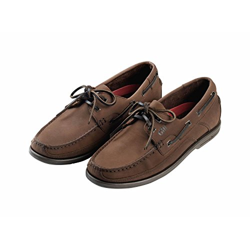 Gill Uomo Deck Shoe Baltimore 2 Occhiello UK 6.5 (EUR 40) Dark Brown