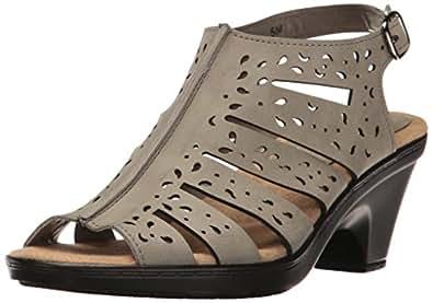 Easy Street Women's Kamber Heeled Sandal, Grey, 11 M US