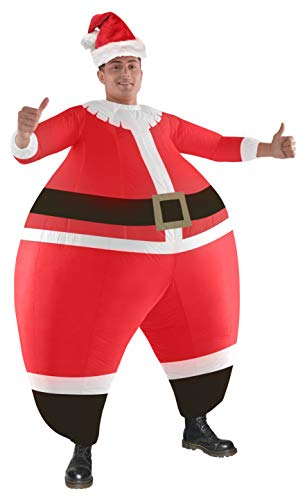 Morph Riesen Weihnachten Aufblasbare Santa Rausschmeißer Halloween Illusion Kostüm für (Halloween Illusion Kostüm)