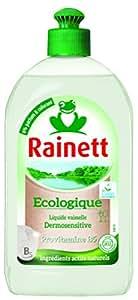 Rainett  Liquide Vaisselle Ecologique  Dermosensitive Ecolabel  500 ml  Lot de 4