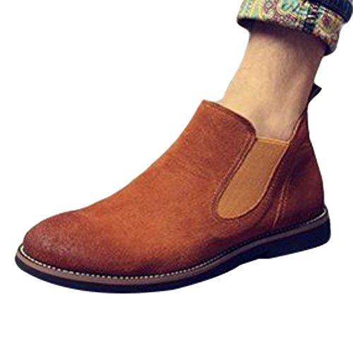 Vogstyle Unisex - Stivali Per Adulti Classici Stivali Chelsea Gialli