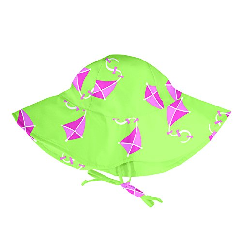 LÄSSIG Baby Sonnenhut MOD / Brim Sun Protection Hat UV-Schutz 50+ Girls, Lime Kite S