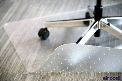 PETEX Bodenschutzmatte Airocell Pet mit Noppen/Spikes, Transparent für Kurz und Mittel florige Teppichböden, 100 cm x 120 cm mit abgerundeten Ecken
