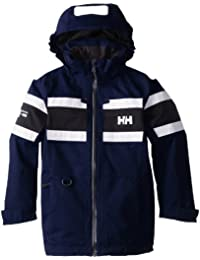 Helly Hansen Jr Salt - Chaqueta para niños, color azul, talla 14